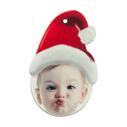 Felt Santa Claus cap shape decoration Sublimation Thermal Transfer
