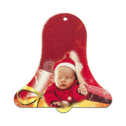 Felt bell shape decoration Sublimation Thermal Transfer