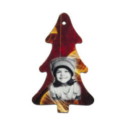 Felt christmas tree shape decoration Sublimation Thermal Transfer