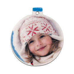 Felt circle shape decoration Sublimation Thermal Transfer