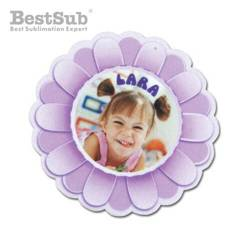 Felt flower shape decoration Sublimation Thermal Transfer