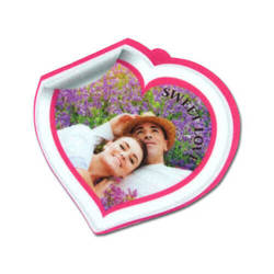 Felt heart shape decoration Sublimation Thermal Transfer