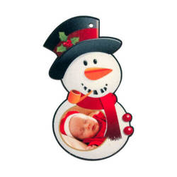 Felt snowman shape decoration Sublimation Thermal Transfer