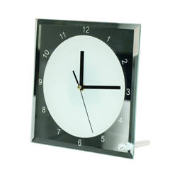 Glass frame clock 20 x 20 cm Sublimation Thermal Transfer