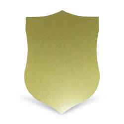 Gold Steel Sheet Shield Sublimation Thermal Transfer