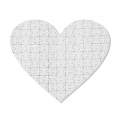 Heart-shaped jingsaw puzzle 19 x 18 cm 76 elements Sublimation Thermal Transfer