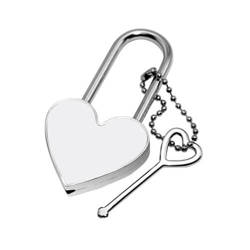 Heart shaped padlock 4 x 7,5 cm Sublimation Thermal Transfer