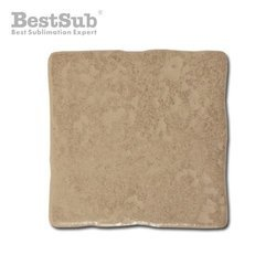 Hewn brown matte ceramic tile 10 x 10 cm Sublimation  Thermal Transfer