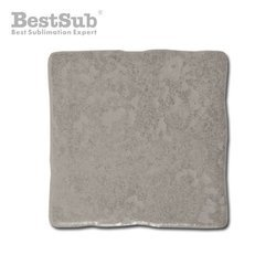 Hewn  grey glossy ceramic tile 10 x 10 cm Sublimation Thermal Transfer