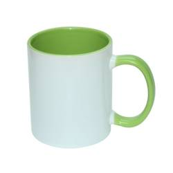 JS Coating mug 330 ml FUNNY light green Sublimation Thermal Transfer