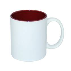 JS Coating mug 330 ml with maroon interior Sublimation Thermal Transfer
