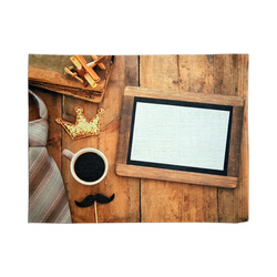 Linen table cloth mat for sublimation printing - Dad