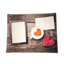 Linen table cloth mat for sublimation printing - Love