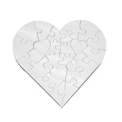 MDF jingsaw puzzle heart 17 x 17 cm 23 elements Sublimation Thermal Transfer