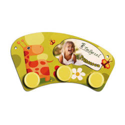 MDF mini hanger for sublimation printing – yellow circles