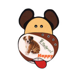 MDF photo frame with magnet - dog - Sublimation Thermal Transfer