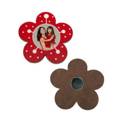 MDF photo frame with magnet - flower- Sublimation Thermal Transfer