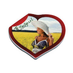 MDF photo frame with magnet - heart - Sublimation Thermal Transfer