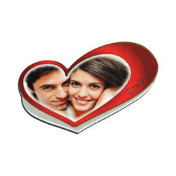 MDF photo frame with magnet - little heart - Sublimation Thermal Transfer