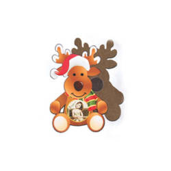MDF photo frame with magnet - reindeer - Sublimation Thermal Transfer