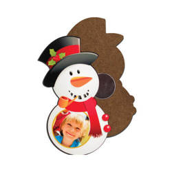 MDF photo frame with magnet - snowman- Sublimation Thermal Transfer