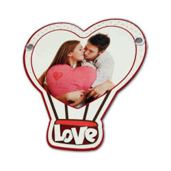 MDF plate with suction pad for sublimation printing - Heart