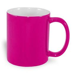 Magic economic mug 330 ml magenta Sublimation Thermal Transfer