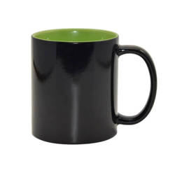 Magic mug 330 ml black with light green interior  Sublimation Thermal Transfer