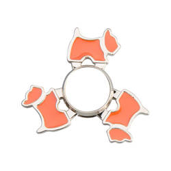 Metal spinner for sublimation - Dog - orange