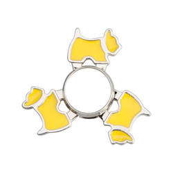 Metal spinner for sublimation - Dog - yellow