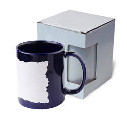 Mug 330 ml with sublimation frame - blue with cardboard box
