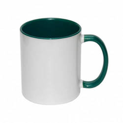 Mug A+ 330 ml FUNNY dark green Sublimation Thermal Transfer