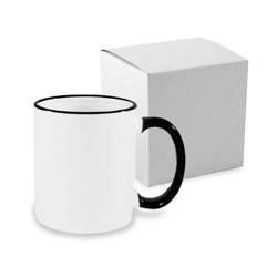 Mug A+ 330 ml with black handle with box Sublimation Thermal Transfer