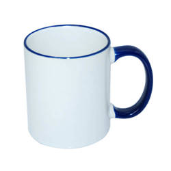 Mug A+ 330 ml with dark blue handle Sublimation Thermal Transfer