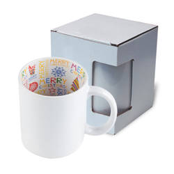 Mug A+ 330 ml with the Merry Christmas inside  with box Sublimation Termotransfer