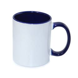 Mug ECO 330 ml FUNNY dark blue Sublimation Thermal Transfer