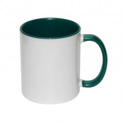 Mug ECO 330 ml FUNNY dark green Sublimation Thermal Transfer