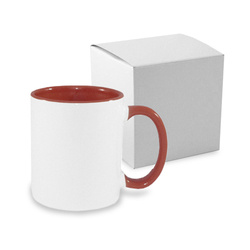 Mug ECO 330 ml FUNNY maroon with box Sublimation Thermal Transfer