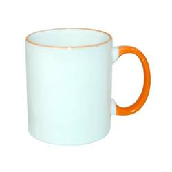 Mug ECO 330 ml with orange handle Sublimation Thermal Transfer