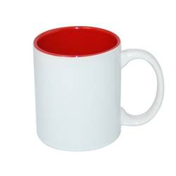 Mug ECO 330 ml with red interior Sublimation Thermal Transfer