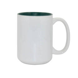 Mug MAX A+450 ml with green interior Sublimation Thermal Transfer