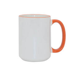 Mug MAX A+ 450 ml with orange handle Sublimation Thermal Transfer