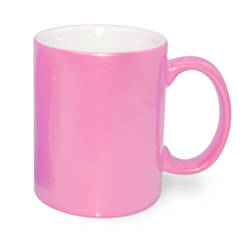 Mug Metalic 330 ml pink  Sublimation Thermal Transfer