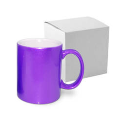 Mug Metalic 330 ml purple with box Sublimation Thermal Transfer