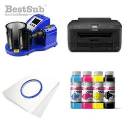 Mug printing kit Epson WF-7110DTW + PLUS-KBJQ2 Sublimation Thermal Transfer