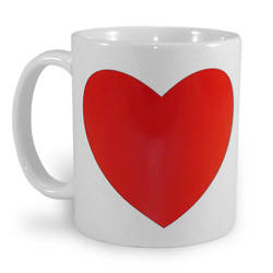 Mug with magic heart Sublimation Thermal Transfer