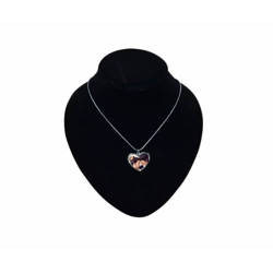 Necklace heart-shaped pendant with metal string Sublimation Thermal Transfer