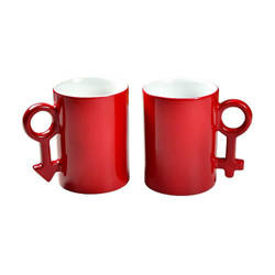 Pair of magic mugs 330 ml red Sublimation Thermal Transfer