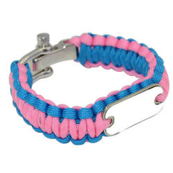 Paracord Bracelet Blue / Pink Sublimation Thermal Transfer
