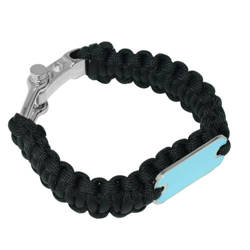 Paracord bracelet black Sublimation Thermal Transfer